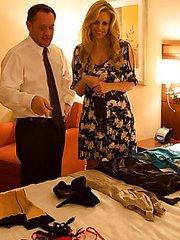 Busty blonde MILF Julia Ann sleeps with her sugar daddy to get her allowance from him.