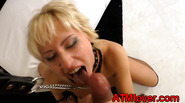 Ass fucked gaping blonde gets a facial