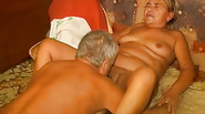 OmaPass old lady masturbating her pussy with toy and sucking dick