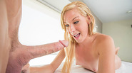 Sweet Ella gets laid at the massage table with dudes huge cock