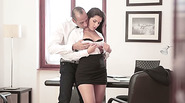 Very sexy Valentina Nappi rides cock in the office in a hardcore action