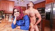 Arab teen Ada gets a warm pussy Cream in their house