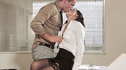 Super hot Alexa Tomas gets banged in the table by her hunk boss