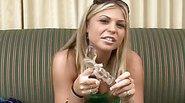 Monika Loves Her Nice Glas Dildo