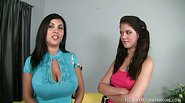 Busty Mom And Daughter Share Huge Cock