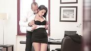 Horny slut secretary Valentina Nappi getting fucked by dude at the office