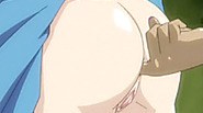 Japanese coed anime gets fingering her ass