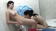 Teen lezbos shower fun