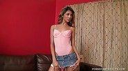 Latin Pixie Veronica Rodriguez's First Boy-Girl Scene!