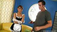 Sexy Maid Jesse Jordan Uses A Big One