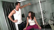 Workout Bitch Bella Roxx and Her Kinky Rusty Trombone