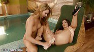 These babes Cindy Hope and Debbie White are fisting...