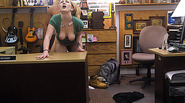 Lovely babe who hae hair deals with a huge cock in the shop