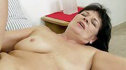 Helena May, the naughty granny laid her wishful eyes on the...