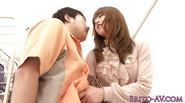 Dominating japanese babe fucks in grocery store