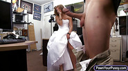 Bride to be pawned her pussy and pounded in the backroom