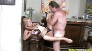 Jeny gets right to the point with Hunter and enjoys herself by the bar