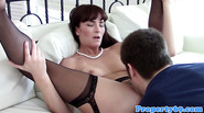 Mature realtor pussylicked and fucked
