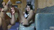 Muriel&Bobbie stunning nylon feet action