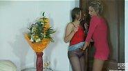 Laura&Nora horny pantyhose video