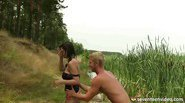 Blow job in the water
