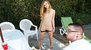 Blondie Skinny Rachel has a very good plan for her guy