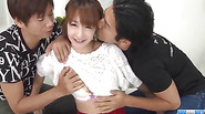 Serious threesome sex with teen Japanese Sana Anzyu