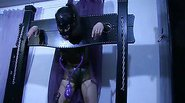 Naughty slave girl using some sex toys