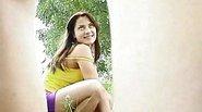 Teen girls posing outdoors