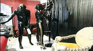 Gorgeous slave girl is tied up and wild