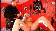 Master humiliating two hot slave girls