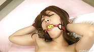 Cute Ayaka Mizuhara bound and plugged with toys and a stiff cock