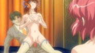 Bondaged anime girl watches her sister getting pounded