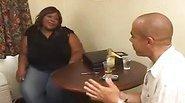 Black BBW fatty get fucked hard by black guy