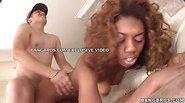 Black girl loves cum on her face