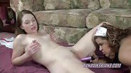 European Lina sharing her toys with a Latina MILF