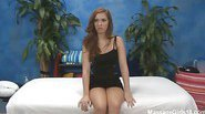 Hot 18 year old Maddy gives a sexy massage and a happy ending!