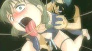 All tied up hentai with clothespins on her tounge gets brutally pumped