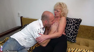 Oldnanny old and young strapon pumping and masturbating