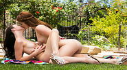 Veronika and Ava make love in the garden