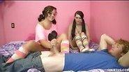 Kaci and Ashley Teen Jerk Job