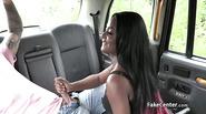 Ebony teen dancer fucked in taxi