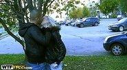 Blonde in crazy public fuck adventure