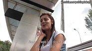 Czech girl Petra banged near the tramway
