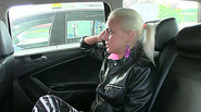 Beautiful Iva gets persuaded to have sex in taxi and receives sticky cumshot