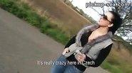 Czech girl Zuzana ass ripped for money