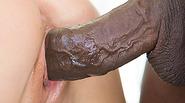 Hot brunette Lola Foxx takes pounding from black monster cock