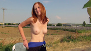 Hot amateur Linda Sweet gets persuaded and paid for public sex