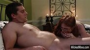 Sultry redhead pornstar Penny Pax nailed and jizzed on