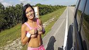 Pounding a stranded hot and busty teen latina  Nadia Capri